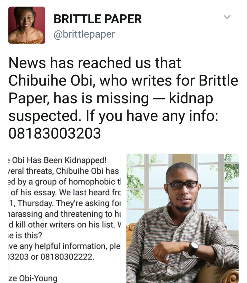Chibuike Obi missing 00
