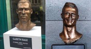 Gareth Bale and Cristiano Ronaldo Statue