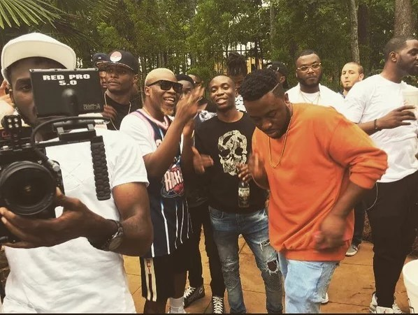 Wale Shot Video of Fine Girl with Davido and Olamide 01