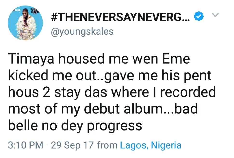 Timaya Gave Me House To Stay When Eme Kicked Me Out -- Skales 02