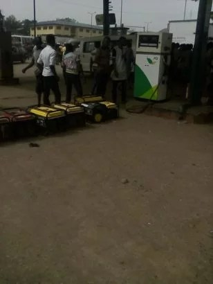 Generator owners queue at Filling Station 03