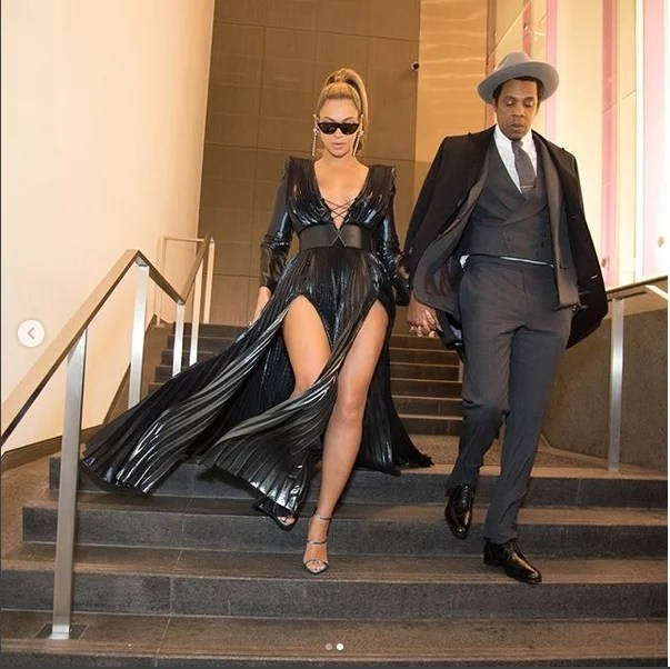Beyonce and Jay-Z at Grammy Awards Pre-Party 00
