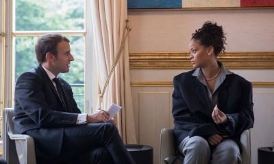 Emmanuel Macron and Rihanna