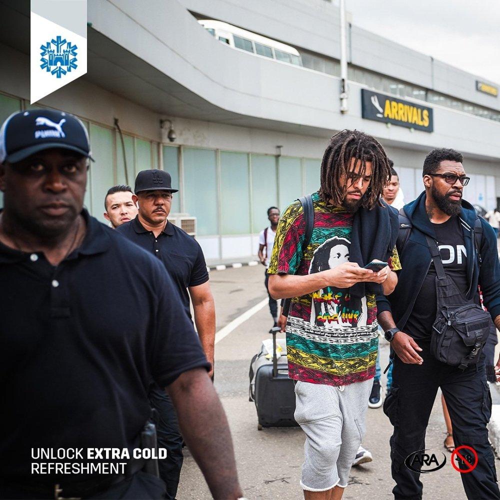 J.Cole Arrives Nigeria