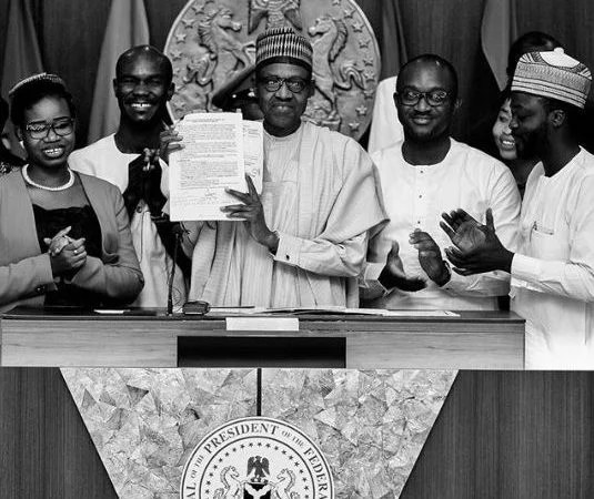 President Buhari Signs Not Too Young To Run Bill
