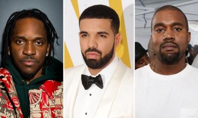 Pusha T, Drake & Kanye West