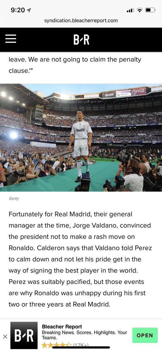 Real Madrid Unviels Ronaldo in 2009