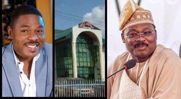 Gov Abiola Ajimobi Speaks On Yinka Ayefele's Music House Demolition Saga '' Because Leg Is Paining Him Doesn't Mean that He Used Violate Rules Of Law ''