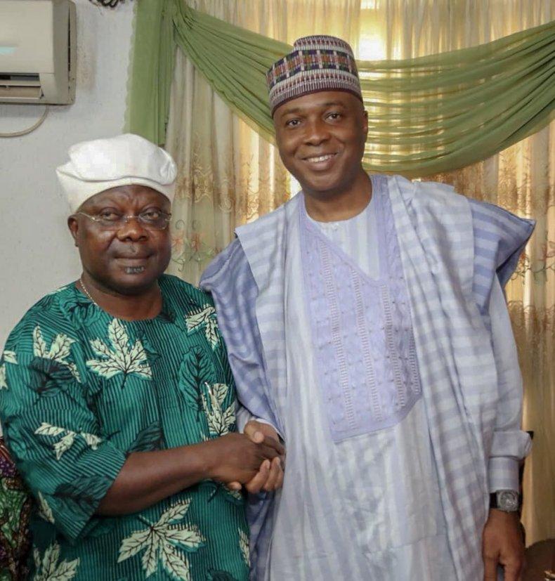 Bukola Saraki Meets PDP Canditate Ademola Adeleke & SDP Canditate Iyiola Omisore in Osun 00