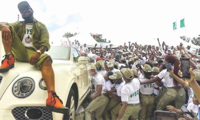 Davido at NYSC Camp
