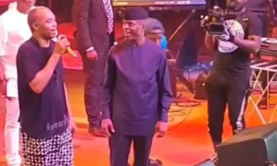 Femi Kuti and Osinbajo