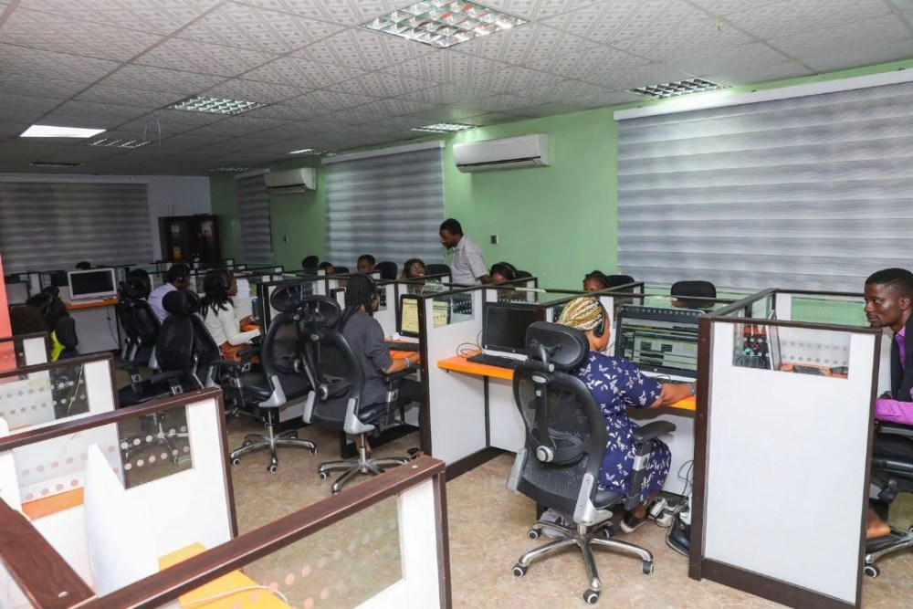 Inside View Of Akin Alabi & Nairabet Multi-Million Naira Mansion Office 08