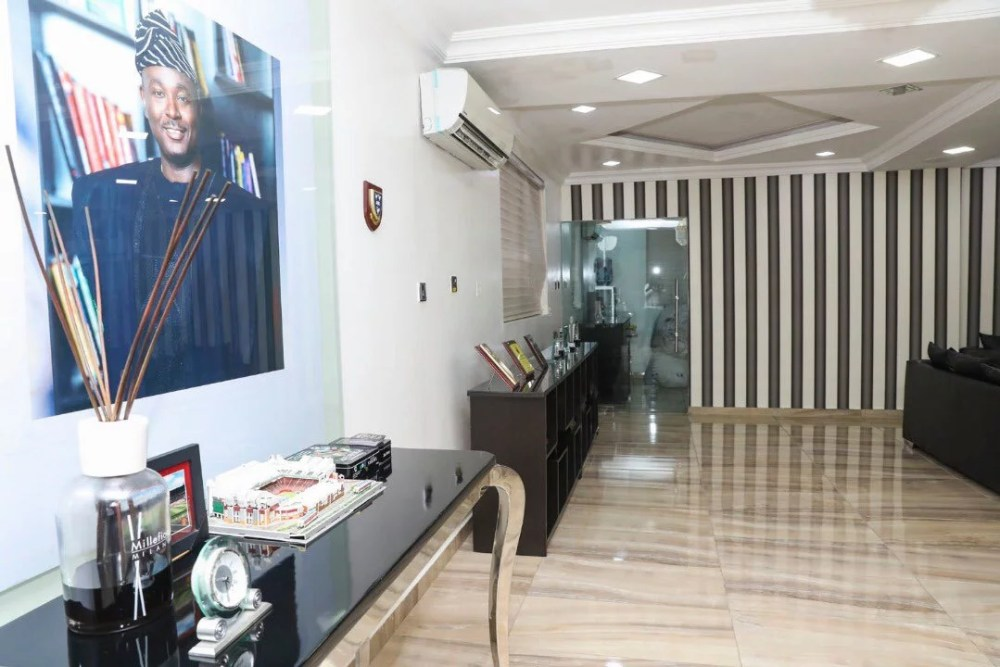 Inside View Of Akin Alabi & Nairabet Multi-Million Naira Mansion Office 24