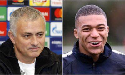 Jose Mourinho and Kylian Mbappe