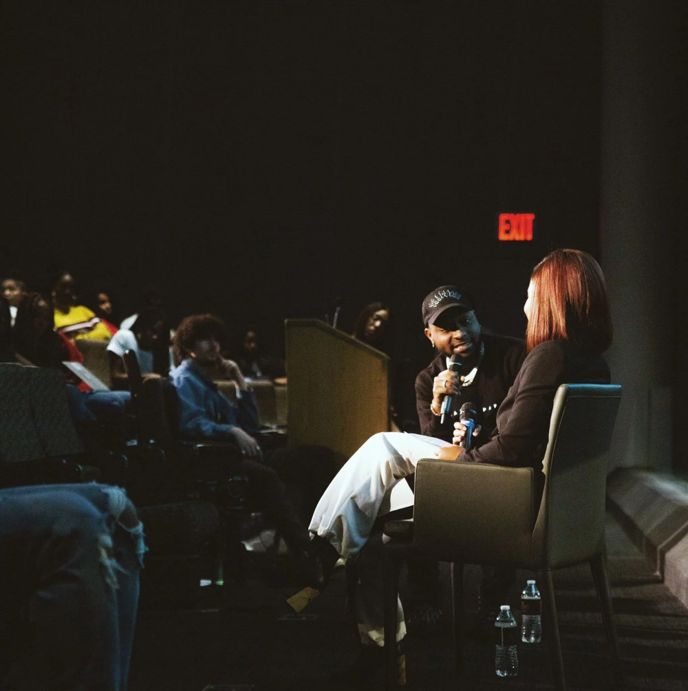 Davido Talks About Shaping The Image of Africa Through Music At Columbia University 00