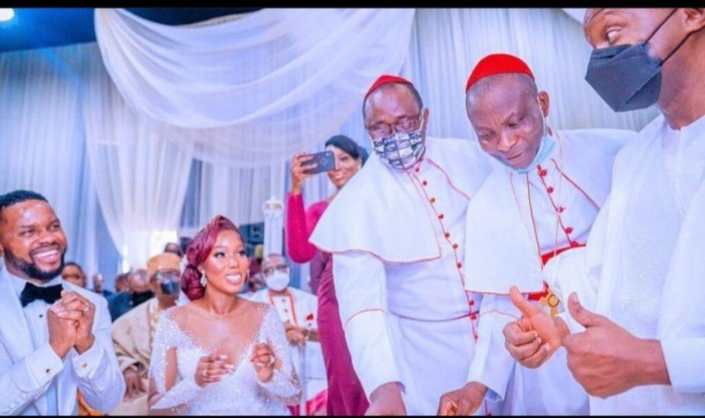 Photos From Debola Williams & Kehinde Daniel White Wedding In Lagos