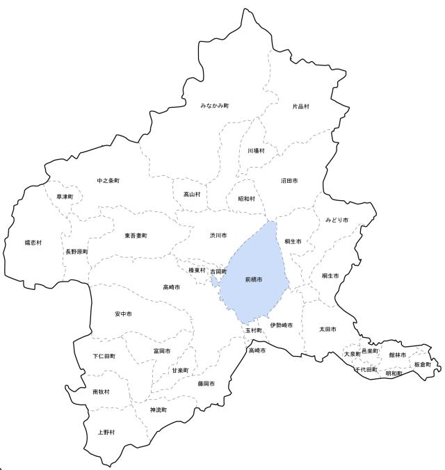 前橋市地図