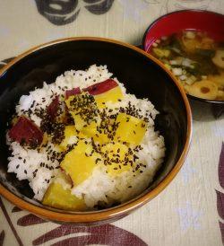 さつま芋ご飯・味噌汁