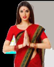 お肌ツヤツヤのインド人女性