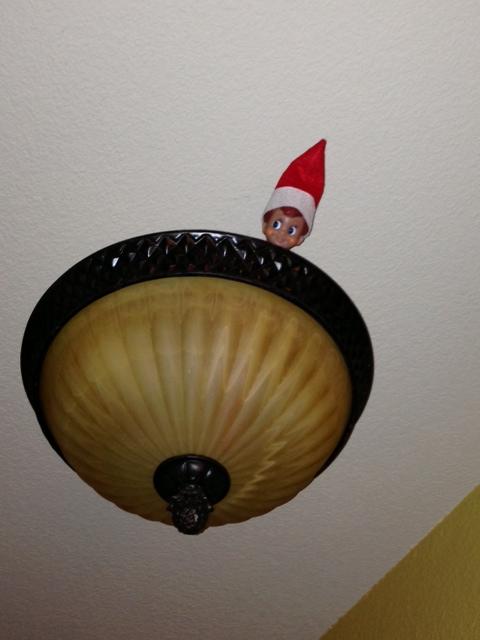elf on the shelf hiding place