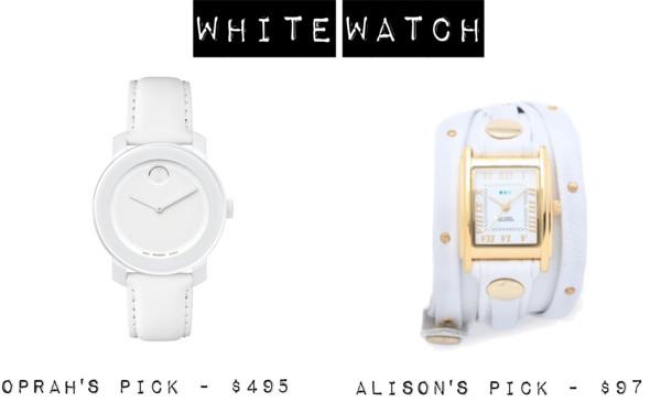 Oprah White Movado Watch