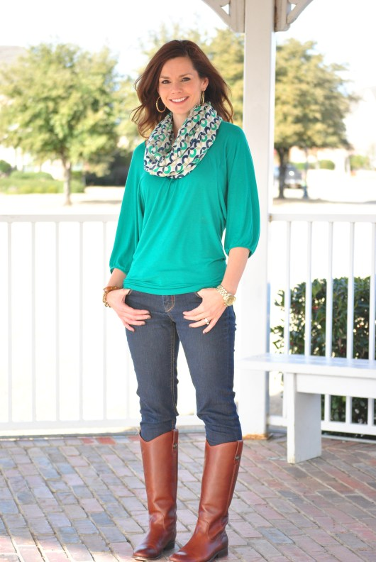Emerald Shirt, Riding Boots