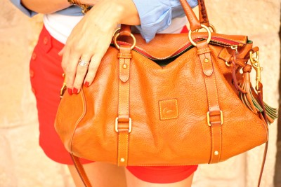 Dooney Florentine Satchel Natural