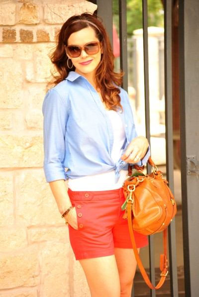 Red Shorts Blue Oxford 34 2
