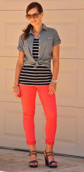 Coral Jeans Chambray