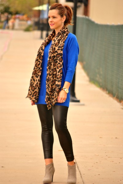 Leather and Leopard Dressy Full