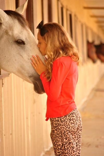 Leopard Ava Kissing Horse