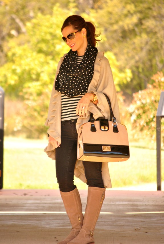 Black and Beige Outfit Full
