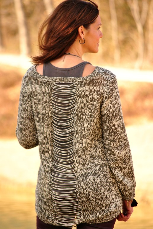 Alison Black Sweater Back