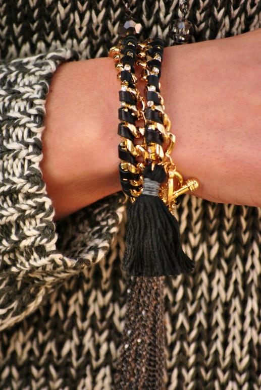 Ettika Black Tassel Bracelet