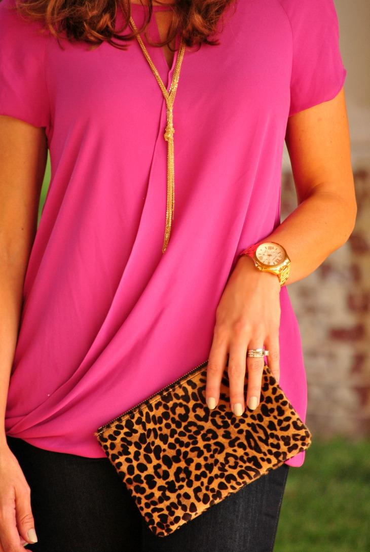 pink-blouse-leopard-clutch