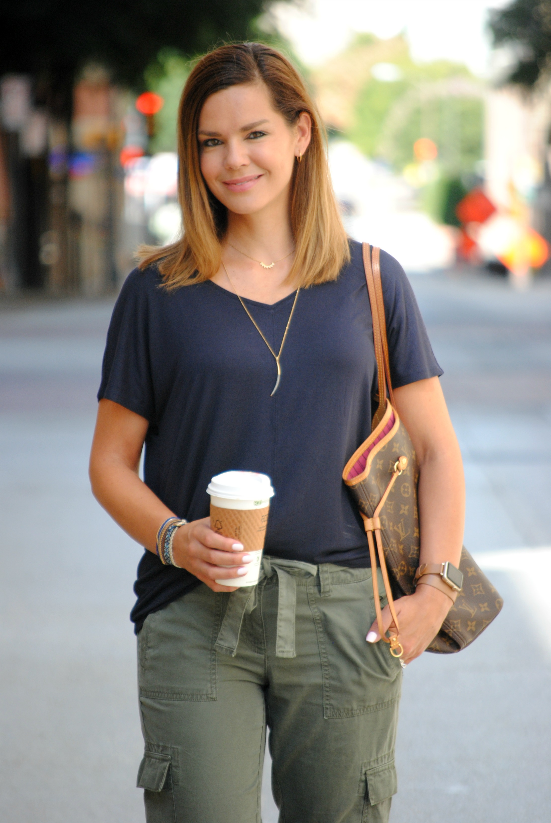 Fall Transition Outfits Olive Cargo Pants   Get Your Pretty On®