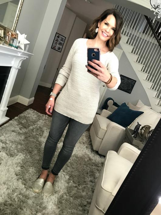 gray-jeans-beige-sweater