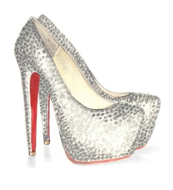 Inspired by Christian Louboutin's embellished pumps