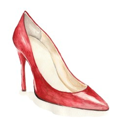 Inspired by Christian Louboutin's pumps