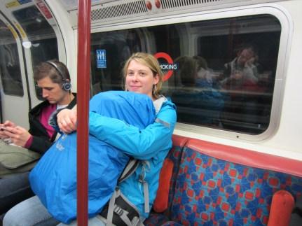 Ames loving on her bag.