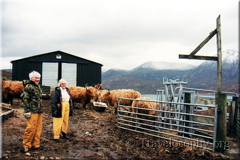 """Hairy Coo"" Farmers, Scotland, December 1997"