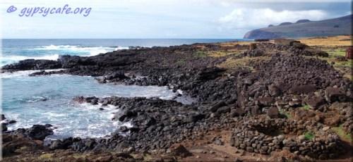 Next to Te Pitu Kura - Rapa Nui North Coast