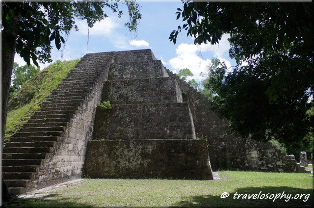The Eastern Pyramid of Complex P at Tikal in Guatemala