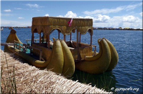 13. Boat - Lake Titicaca - Uros Islands - Peru