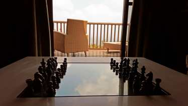 Chessboard with a view