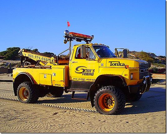 Beach tow truck