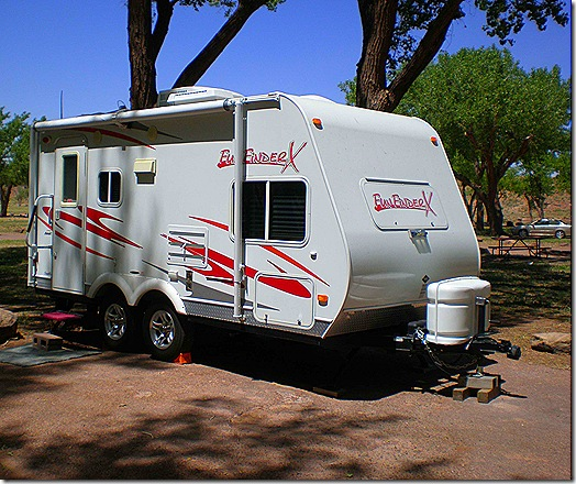 Campground small trailer