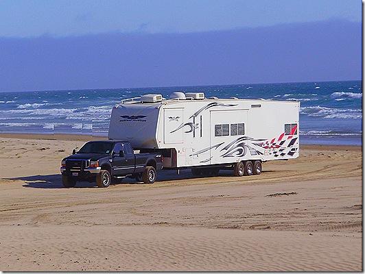 Fifth Wheel on beach 2