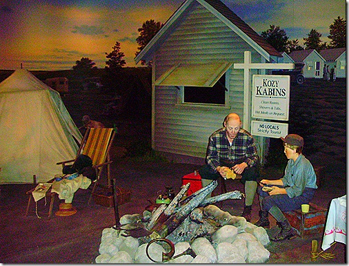Kozy Kabins display