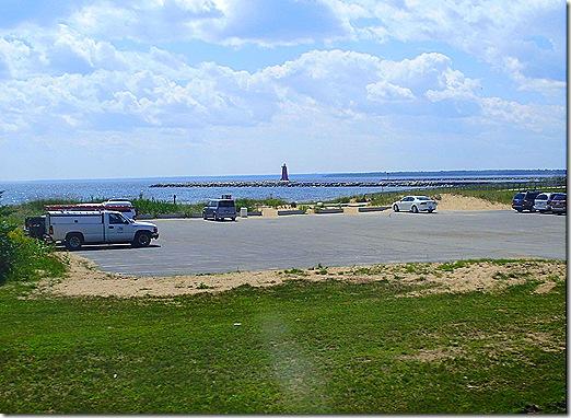 Lake Michigan pullout lighthouse